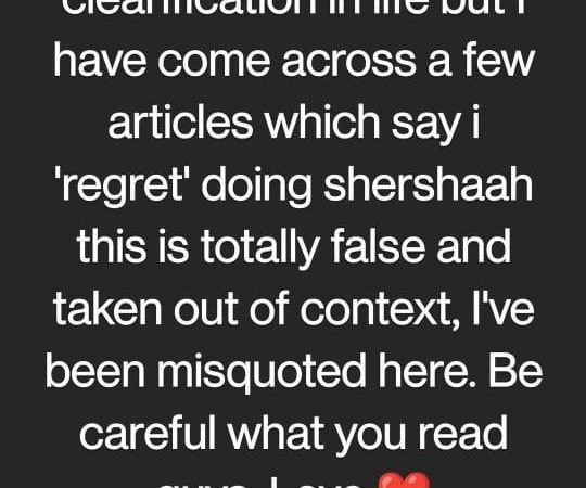 """Shershaah actor Sahil Vaid clarifies and states that """"I have been misquoted here"""" regarding the articles that say he regrets doing the film"""