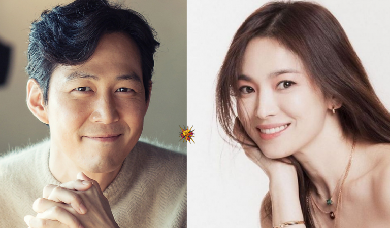 Lee Jung Jae Sends Coffee Truck To Support Song Hye Kyo On Set Of Her Upcoming Drama