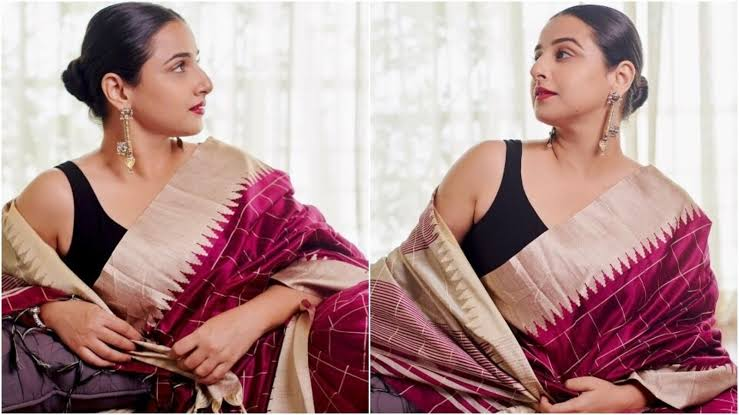 Vidya Balan pays a tribute to the passion of devotion of local artists on Handloom Day