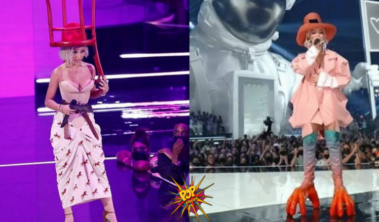 VMA 2021 Chair Hat to Chicken Feet boot Looks : Goes VIRAL