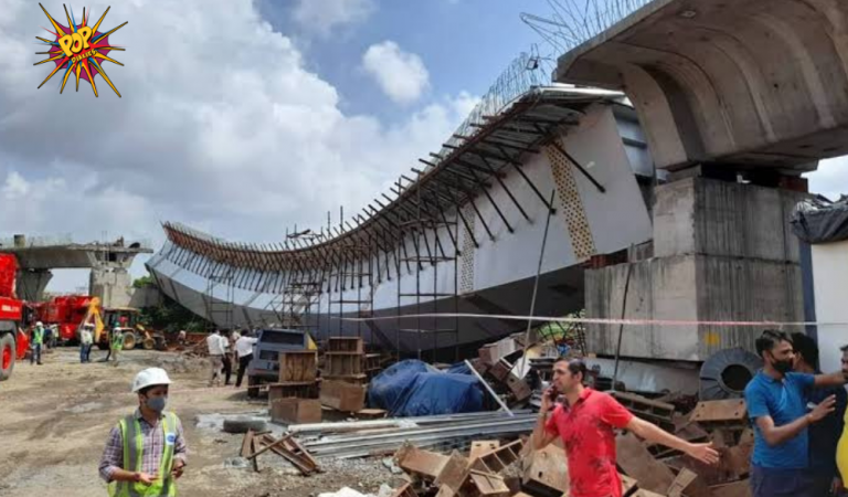 At least 14 people were injured after a flyover collapsed in Mumbai, know more:
