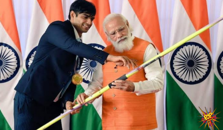 PM Modi At E-Auction was Gifted  Lovlina's gloves which was for Rs 1.9 cr. Neerajs Javlin which was for Rs 1.6 cr