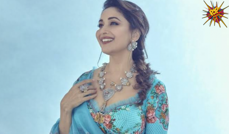 Madhuri Dixit looks Adorable in  Her Mesmerizing Blue Shade Sarees and Lehengas See pics