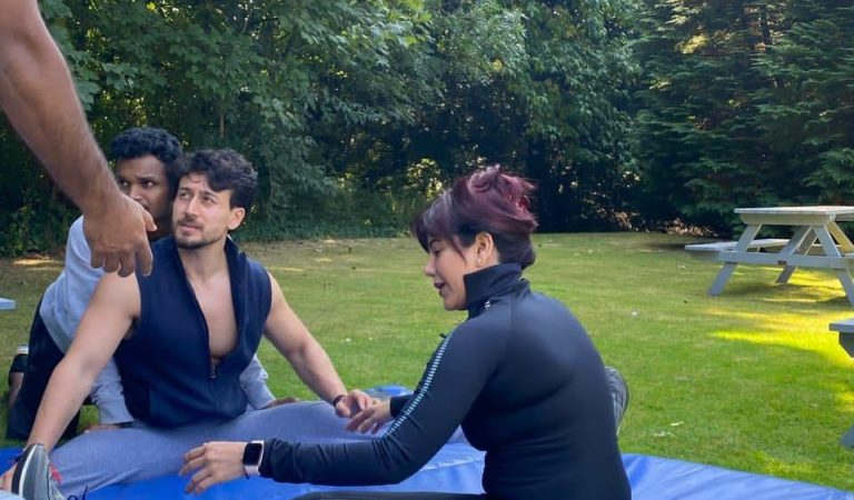 Warda Nadiadwala learns masterstrokes from Tiger Shroff; shares BTS pictures from sets of Heropanti 2
