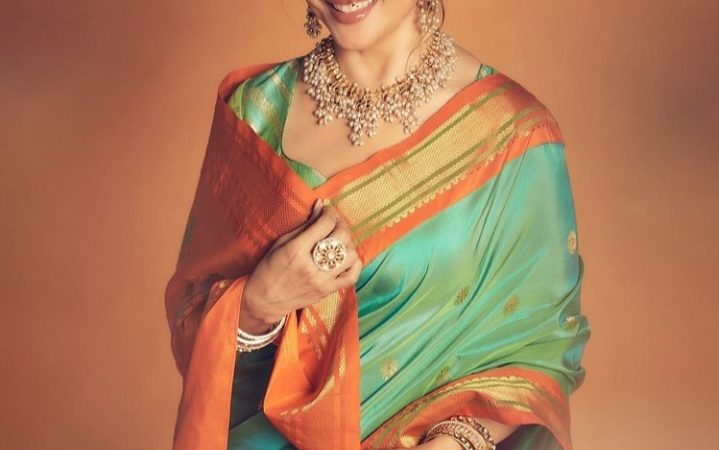 Madhuri Dixit is an Embodiment of Effortlessness and Polish In a Customary Paithani Saree Worth Rs. 35,000 as She Starts Ganesh Chaturthi Festivity
