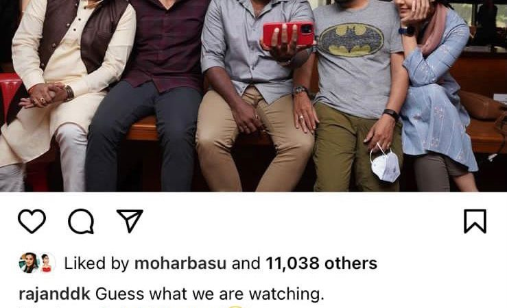 Is Kubbra Sait shooting for her next project with Shahid Kapoor and ave directors Raj and DK, this social media banter surely hints at that !