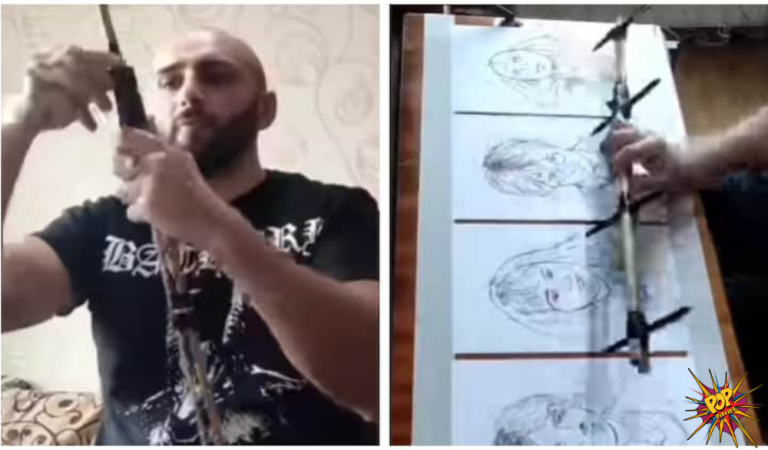 The video of a Man who draws 4 portrait of Harry Potter characters all at once is getting viral. Know what happened: